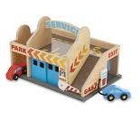 Garasje, bilvask og bensinstasjon i tre
