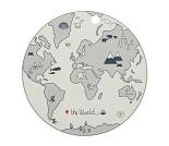 Spisebrikke med verdenskart - OYOY