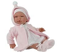 Babydukke med myk kropp og rosa kl..