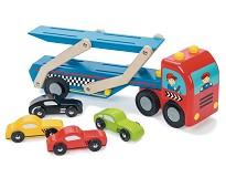 Biltransporter i tre med 4 biler - Le Toy Van