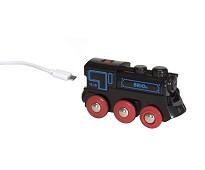 Oppladbart damplokomotiv - BRIO