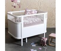 Hvit seng til baby og junior - Sebra