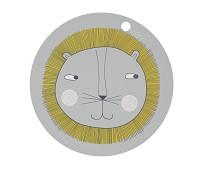 Spisebrikke med løve - OYOY