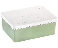 Grønn og hvit matboks med tre rom - Blafre
