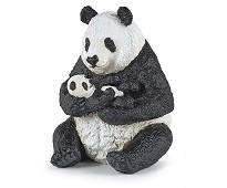 Panda med unge miniatyrfigur - Papo
