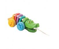 Fargerik krokodille draleke i tre - PlanToys