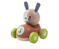 Lekebil i tre med kanin - PlanToys