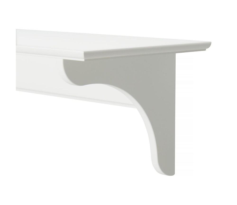 Uvanlig Hvit hylle med 4 kroker fra Oliver Furniture | Sprell - veldig XS-34