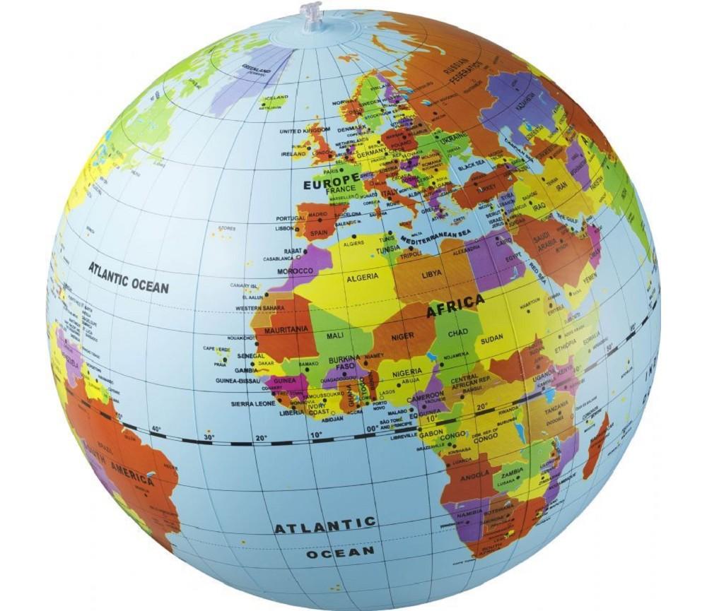 globus og kart Oppblåsbar globus 50cm | Sprell   veldig fine leker og  globus og kart