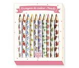 10 små fargeblyanter - Lovely paper fra Djeco