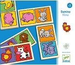 Dominospill med dyr i tre fra Djeco