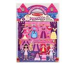 Aktivitetsbok med puteklistremerker, prinsesser