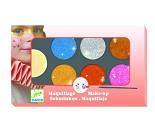 Ansiktsmaling med 6 glitterfarger Djeco