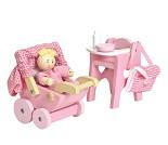 Baby og utstyr, dukkehustilbehør - Le Toy Van