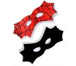 Batman- og spidermanmaske, kostymetilbehør