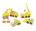 Biler og maskiner til byggeplass fra Le Toy Van