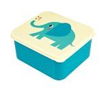 Blå matboks med elefant på lokket