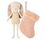 Rosa kanin i sokk, 25 cm - Maileg