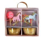 Cupcake kit, enhjørninger, 24 stk - Meri Meri
