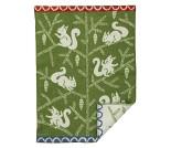 Ekorn, grønt babyteppe i ull - Klippan