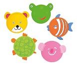 Frisbee med dyreansikt, 5 valg