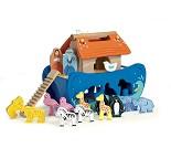 Noahs ark, blå puttekasse i tre - Le Toy Van