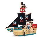 Piratskip i tre fra Le Toy Van