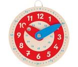 Liten klokke i tre, lær klokka