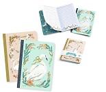 2 notatbøker med svane Lucille-Lovely paper Djeco