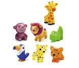 Safaridyr, sju badeleker - Djeco