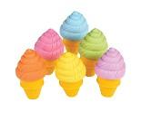 Iskrem-viskelær med lukt, 6 stk