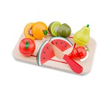 Skjærefjøl med frukt - lekemat i tre