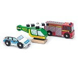 Utrykningskjøretøy, 3 biler i tre fra Le Toy Van