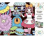 Fargeleggingsark med fløyel, søtsaker - Djeco