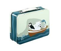 Koffertmatboks med lundefugl - Blafre