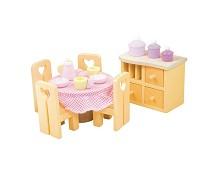 Spisestuen, dukkehusmøbler i tre - Le Toy Van