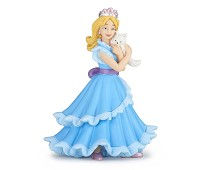 Prinsesse i blå kjole miniatyrfigur - Papo