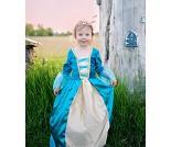 Blå prinsessekjole, 5-6 år - Kostyme