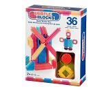 Boks med Nopper, 36 byggeklosser - Bristle Block