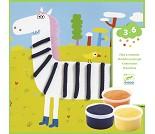 Dyr, hobbysett med plastelina - Djeco
