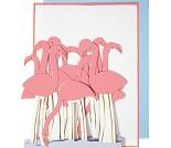 Flamingo, papirrad - kort fra Meri Meri