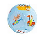 Blå myk ball med kjøretøy til baby - HABA