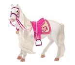 Hvit hest - dukketilbehør til Our Generation