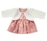 Kjole og jakke, dukkeklær 50 cm - By Astrup