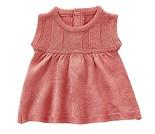 Rosa strikket kjole, dukkeklær 35 cm - By Astrup