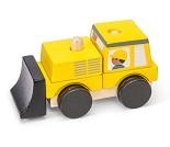 Gul bulldoser / stableleke i tre fra Le Toy Van