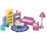 Stue, dukkehusmøbler i tre fra Le Toy Van