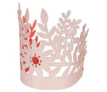 Rosa bursdagskroner med glitter, 8 stk - Meri Meri