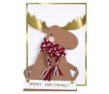 Julekort med elg - Meri Meri