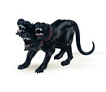 Trehodet hund miniatyrfigur - Papo